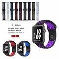 Kobwa esportes silicone banda 42mm para substituição da apple watch série 1 & 2 pulseira de borracha preta pulseira pulseira de borracha