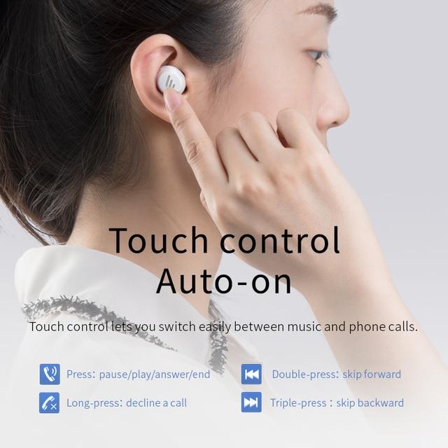 EDIFIER TWS1 TWS Earbuds Bluetooth v5.0 aptX Touch control IPX5 rated Ergonomic design wireless earphones Bluetooth earphone 4