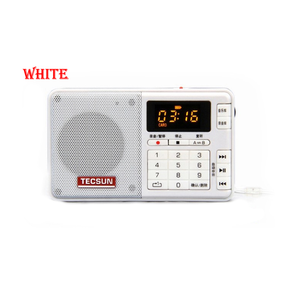 Transporti Falas TECSUN Q3 FM Regjistrues Stereo Pocket Size MP3 Player Radio FM FM-10-108 Me 16G TF Card