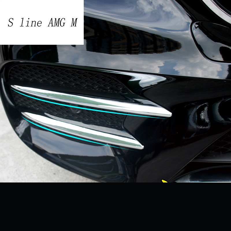 Red Car ABS Front Fog Light Lamp Cover Trim Sticker for Benz E W213 Class