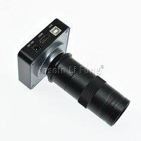 21MP 1080 P 60fps промышленности HD микроскоп Камера HDMI USB двойной Выход + 8X 130X Регулируемая Увеличение 25 мм зум C Крепление объектива
