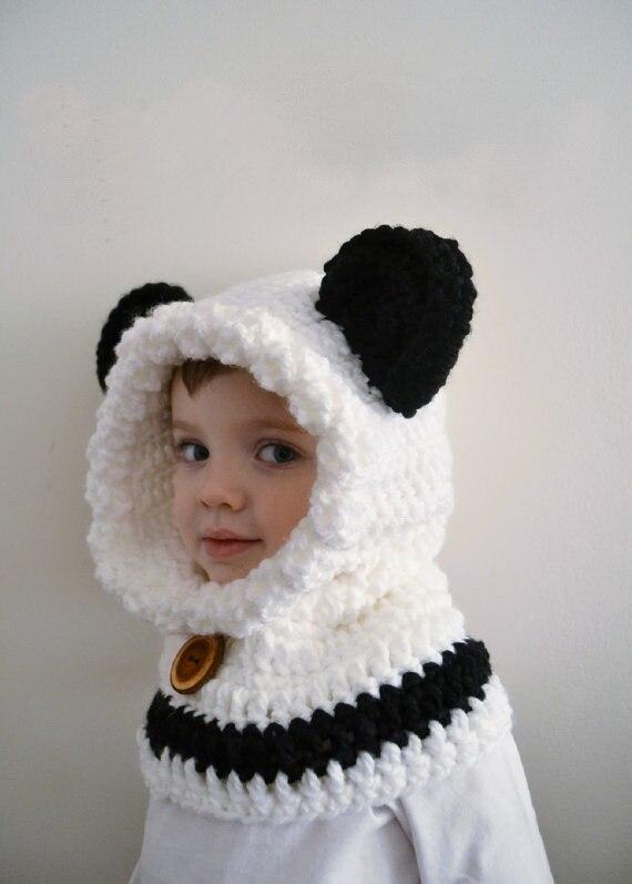 Los niños de la panda del Oso de Panda bebé oso Sudadera con capucha de  adultos oso panda capucha Sombrero animal con capucha bufanda sombrero  grueso del ... f0fa4c69663