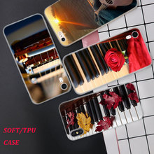 Silicone Phone Case Guitar Piano Music Scenery Printing for iPhone XS XR Max X 8 7 6 6S Plus 5 5S SE Phone Case Matte Cover music piano pattern protective crystalplastic back case for iphone 5 black silver