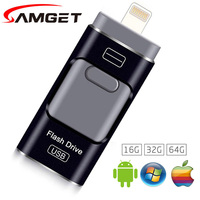Samget Micro USB 3.0 Interface Data Pen Drive 8 GB/16 GB/32 GB/64 GB voor Desktop PC/iOS/iPhone/ipad/Samsung/Android