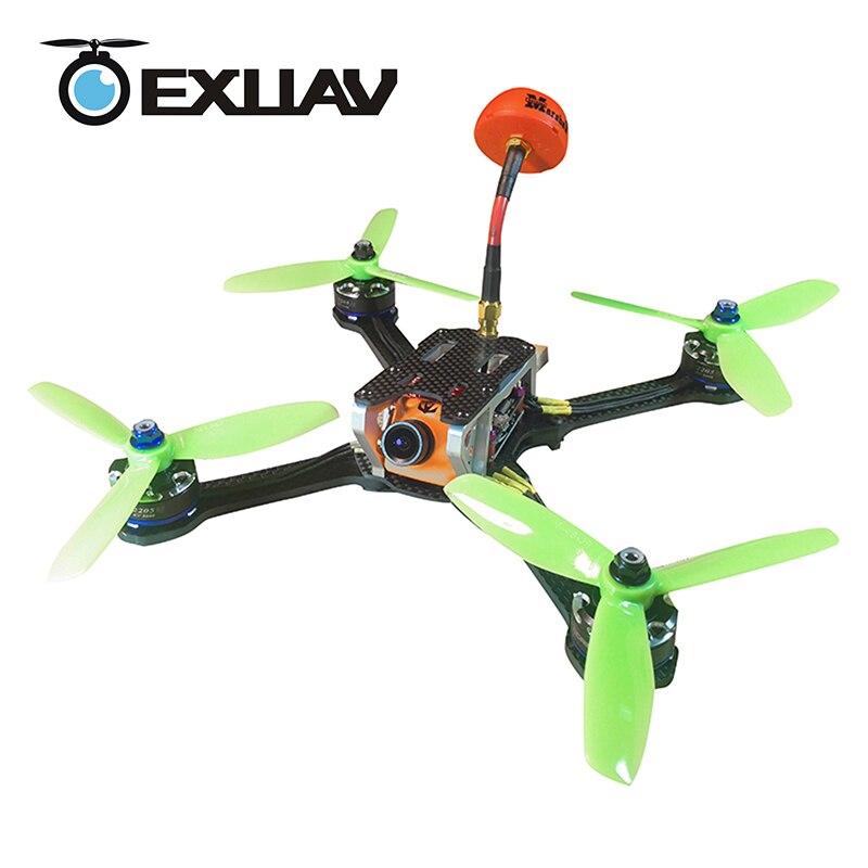 Exuav лягушка Lite RC FPV Racing Drone пакеты 218 мм Колесная база 4 мм руки углеродного волокна Рама Комплект H Структура XT60 разъем для игрушки