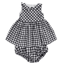 Baby Dresses 2017 Summer New Baby Girls Clothes Lace Bow tie Cotton Kids Clothing
