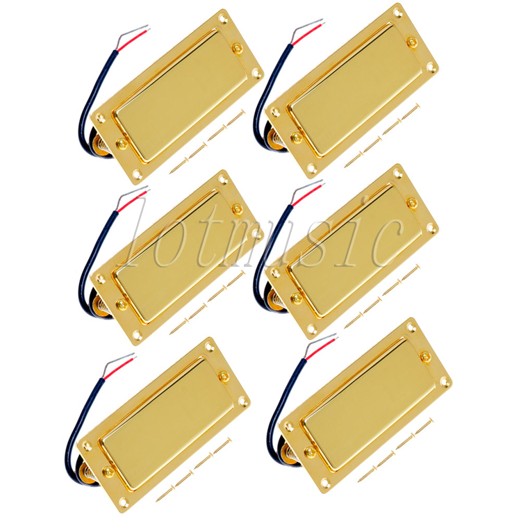 6Pcs Belcat BMH-80 Rohs Golded Humbucker Pickup Ferrite Mini Pickup Guitar Pickup For Electric Guitar Replacement belcat bass pickup 5 string humbucker double coil pickup guitar parts accessories black