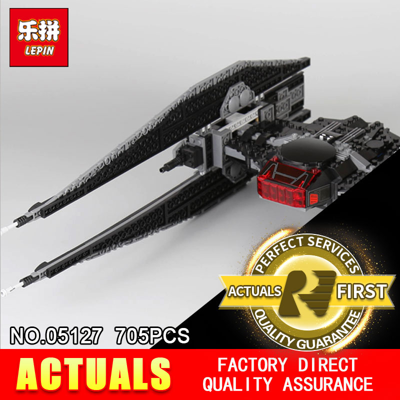 Lepin 05127 705Pcs The Tie Model Fighter Set Star Plan Series 75179 War Building Blocks Bricks Educational toy as Christmas Gift 2015 high quality spaceship building blocks compatible with lego star war ship fighter scale model bricks toys christmas gift