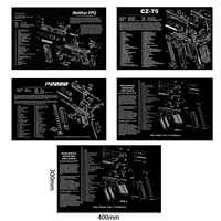 CZ 75 Gen4 Glock Gun Cleaning Rubber Mat With Parts Diagram and Instructions Armorers Bench Mat Mouse Pad Walther PPQ HK P2000