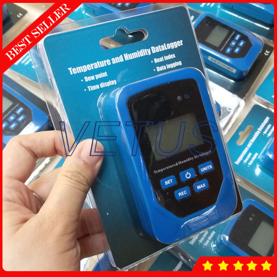 TL-505 USB interface Temperature Humidity Data Logger with large LCD display 20,000 group datas datalogger recorder  цены