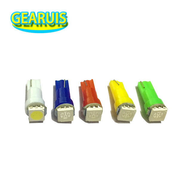 200pcs Car Interior Light <font><b>LED</b></font> <font><b>T5</b></font> 1 SMD Dashboard Wedge <font><b>led</b></font> auto Light Bulb Lamp Red Blue Green White <font><b>24V</b></font> 1smd Instrument 5050 image