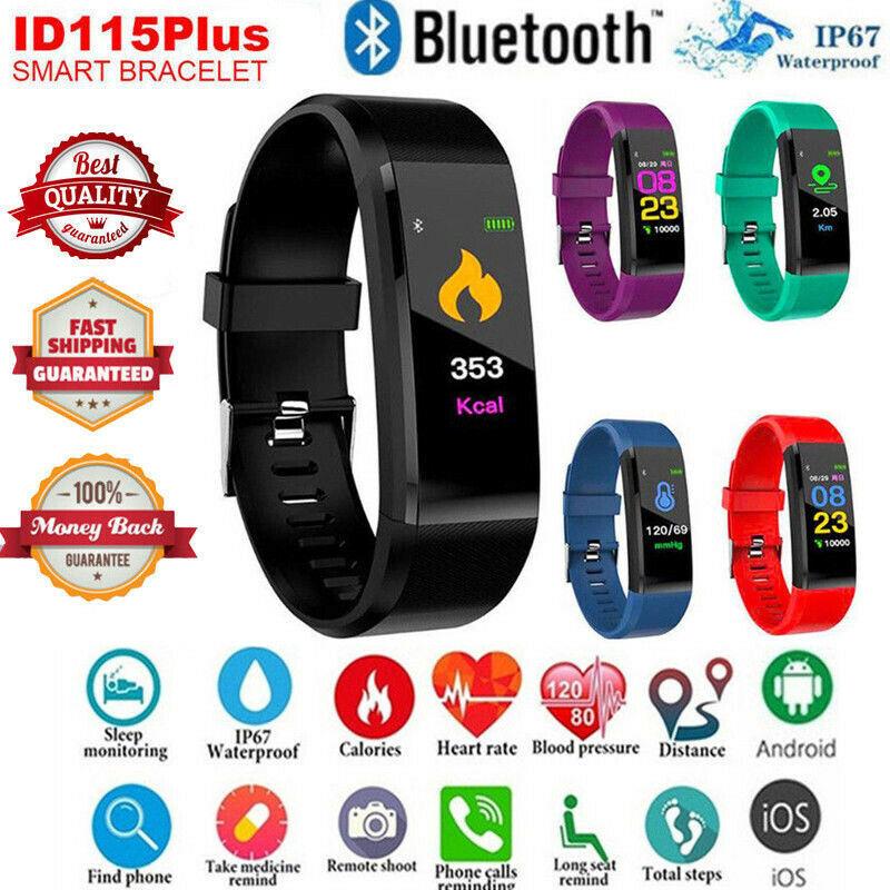 8e00655a81e9 Smart Bracelet Sport Bluetooth Wristband Heart Rate Monitor Watch Activity  Fitness Tracker 115Plus SmartBand PK Mi band 2 ~ Best Seller July 2019