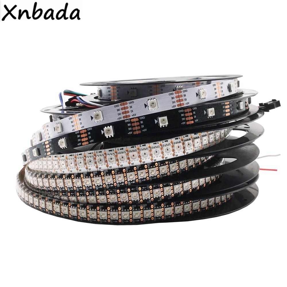 WS2813(WS2812B Update) RGB Led Strip 30/60/144 Pixels/Leds/m Dual-Signal Led Individual Addressable WS2812 IC DC5V