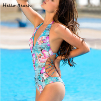 Swimwear Women Letters Printed Swimwear Female Sexy Strappy Indoor Swimsuit For Women Bather Trikini Push Up