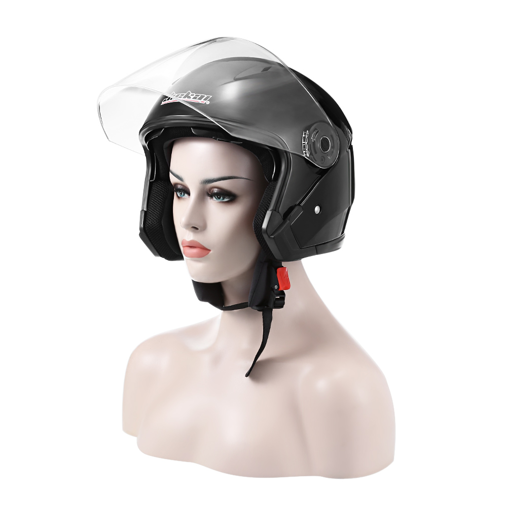 JIEKAI JK   512 Motorcycle Open Face Helmet Anti UV / ABS Plastic / Dual Lens Motorcycle Helmet-in Helmets from Automobiles & Motorcycles