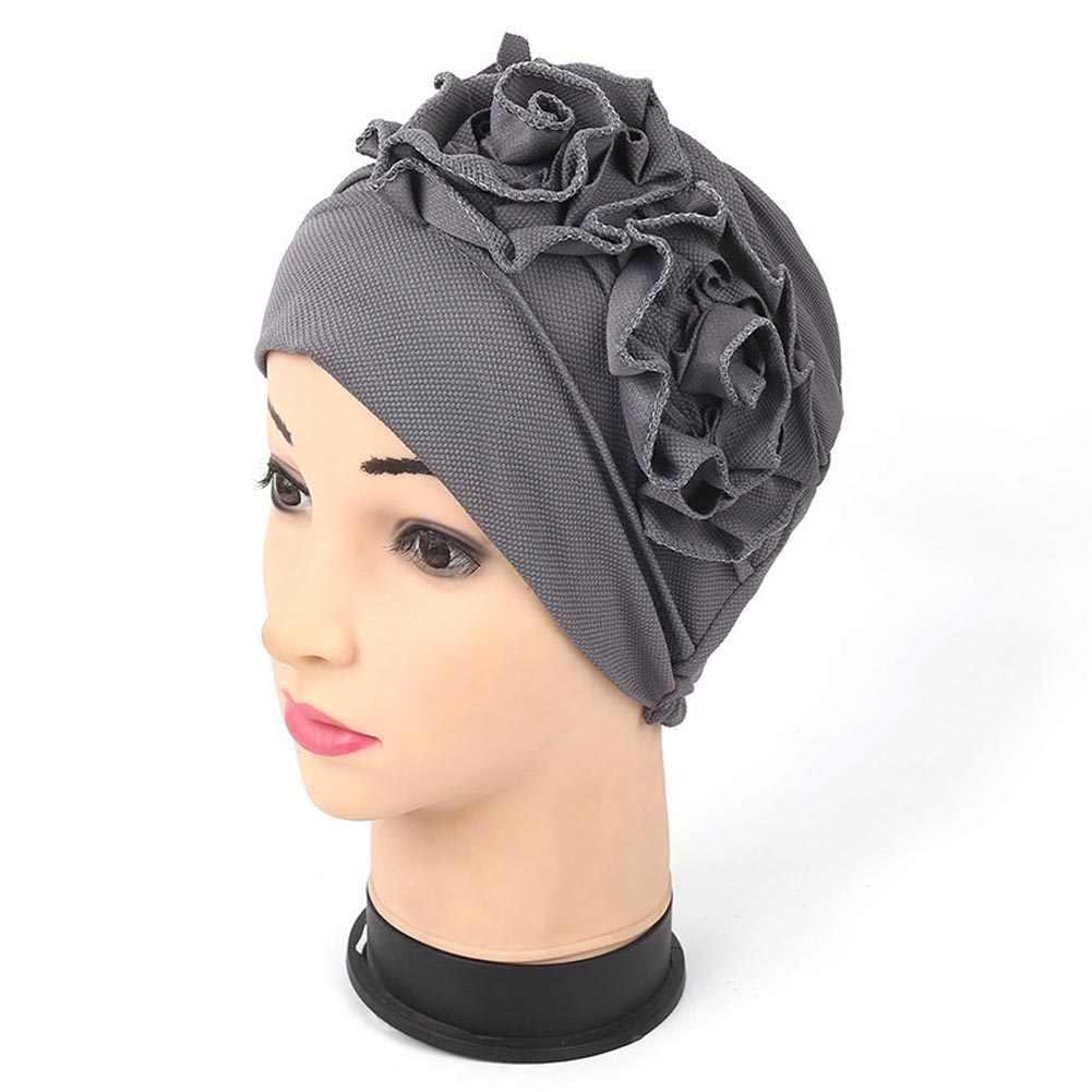 Delle Donne di modo Musulmano Copricapo Cappelli Abaya Islamico Turbante Hijab Cappello di Fiore Velo H9