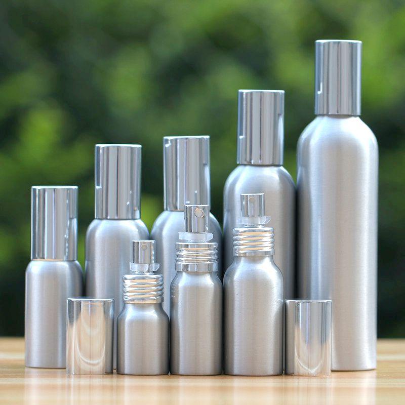 20-50 pz di alta qualità 20-500 ml Alluminio argento bottiglia vuota spray Nebbia Sottile di Ricarica cosmetici Campione vaso subpackage spruzzo di viaggio
