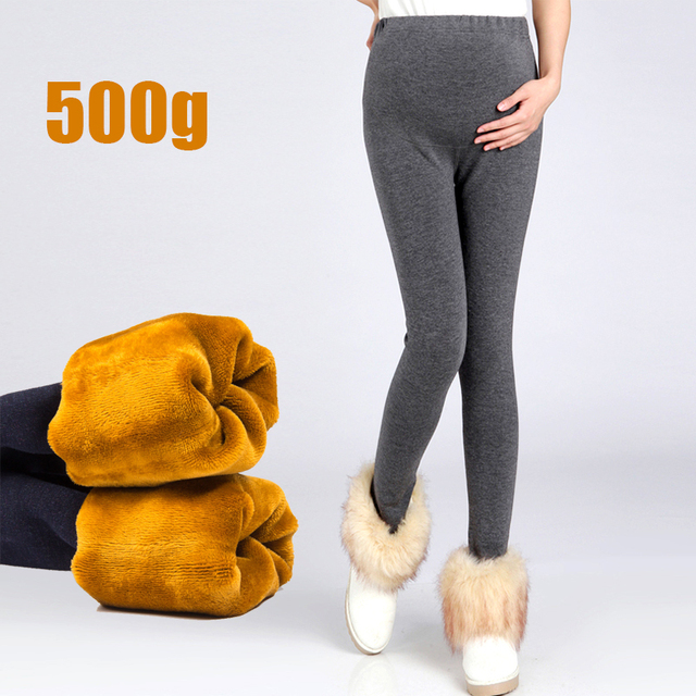 Winter Thick Maternity Leggings For Pregnant Women Lovely Show Thin Leggings Pants with golden pile fabric 500g warmly pant