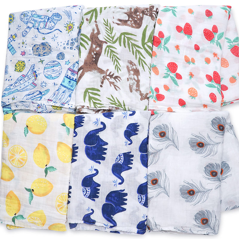 NEW Cotton Supersoft Muslin Diapers Receiving Baby Blanket Bath Towel Swaddle Wrap Baby Bed Accessories Baby Blankets Newborn