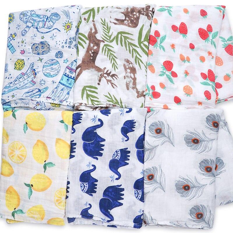 ¡Novedad! pañales de muselina supersuaves de algodón, manta de bebé, Toalla de baño, envoltura, accesorios para cama de bebé, mantas de bebé recién nacido