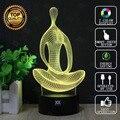 Meditación lámpara estatua de la libertad 3d lámpara led novelty luz niño luces de la noche del usb del regalo de cumpleaños hui yuan marca