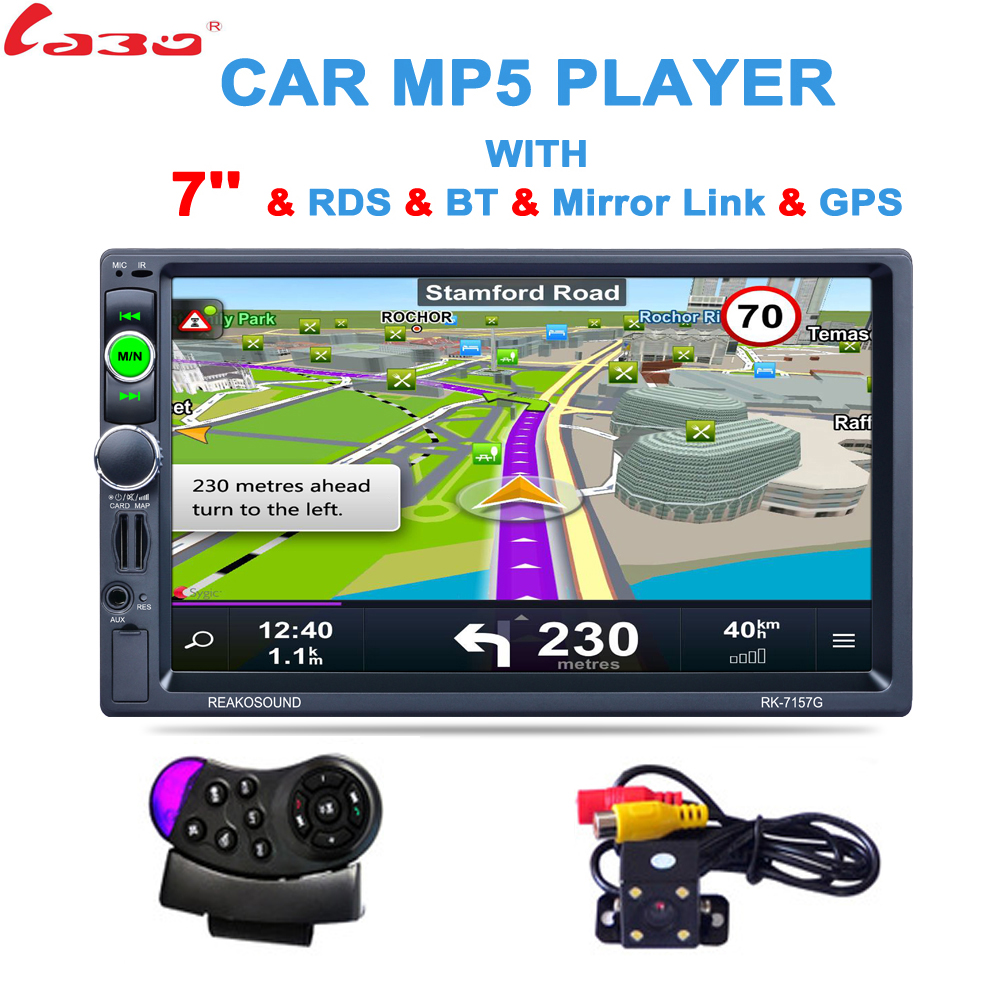 2 DIN 7 дюймов HD GPS автомобильный навигатор 800 мГц FM/8 ГБ/DDR3 2017 Карты для России /Беларусь Европа/США Канада грузовик SatNav Camper караван