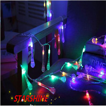 220V 10M 50 LED Strip Lamp Crystal Bubble Water Drop String Fairy Lights for Wedding party Christmas Garland Curtain decorations