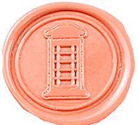 Vintage Telephone Booth Custom Picture Logo Wedding Invitation Wax Seal Sealing Stamp Sticks Spoon Gift Box