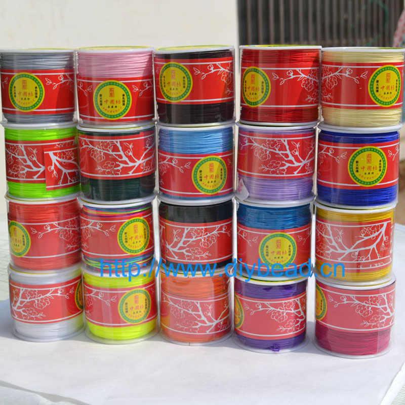 20 màu 20m Dây Nylon Chủ Đề Trung Quốc Phối Nút Macrame Dây Vòng Tay Áo Ngực Dây DIY Tua Rua Chiếu Trúc Hạt Shamballa Dây Ren