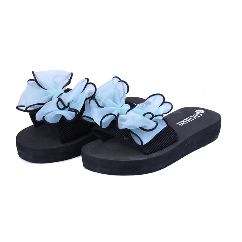 Women Summer slippers Outside Casual Flip Flops Hundred And Up Bow Beach Slippers Shoes Flat Bottom Slides gg shales for women ms noki fashion solid string bead women slides flat with summer flip flops ladies slippers casual outside women platform slides