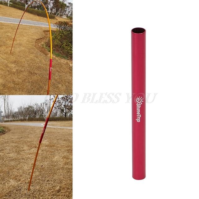 13CM Aluminum Alloy Tent Pole Repair Tube Single Rod Mending Emergency Pipe For Camping Tent Accessories