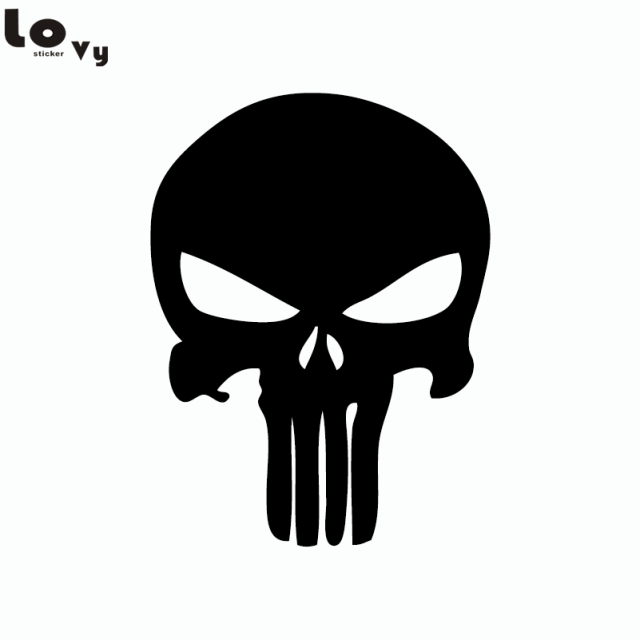 Skull the punisher logo vinyl wall sticker cartoon vinyl wall decal