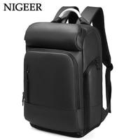 15 6 Laptop Backpack Black Business Male Mochila USB Charging Functional Rucksack Waterproof Leisure Travel Backpack