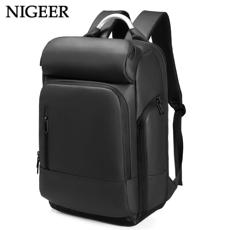 15,6 рюкзак для ноутбука черный бизнес мужской Mochila зарядка через usb функциональный рюкзак водостойкий рюкзак для отдыха и путешествий для му...