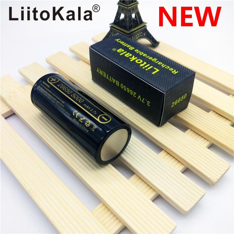 HK LiitoKala lii-50A 26650 5000 mah batterie au lithium 3.7 V 5000 mAh 26650 rechargeable batterie 26650-50A approprié pour flashligh NOUVEAU