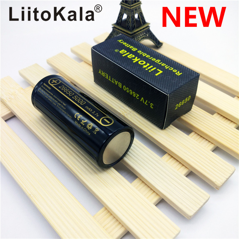HK LiitoKala lii-50A 26650 5000mah lithium battery 3.7V 5000mAh 26650 rechargeable battery 26650-50A suitable for flashligh NEW new liitokala 26650 battery 26650a lithium battery 3 7v 5100ma 26650 50a blue power battery suitable for flashlight