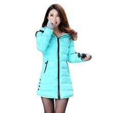 Wadded Jacket Female 2015 Fashion women's winter jacket down cotton jacket slim parkas ladies coat plus size S-3XL  QL1785