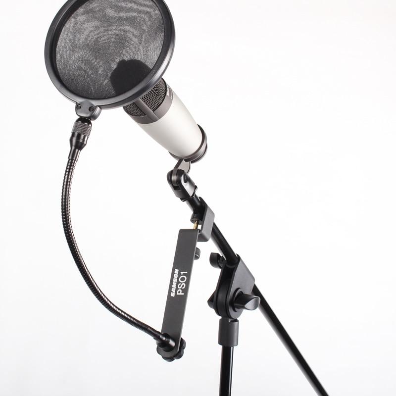 Micro à condensateur USB studio Samson C01U Pro avec écran de filtre Pop PS01 micro écran de maille en nylon pour réduire les plosives vocales-in Microphones from Electronique    3