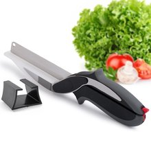 Multi-Purpose Stainless Steel Vegetable Chopper Clever Cutter Excellent Fruit Cutting Tool Kitchen Smart Cutter Knife Scissor(China)