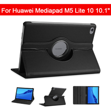 360 Rotating Case For Huawei Mediapad M5 Lite 10 BAH2-W19/L09/W09 10.1 Tablet PC Stand Cover Protective Shell/Skin ultra slim zair case for huawei mediapad m5 lite 10 bah2 w19 l09 w09 10 1 tablet stand cover for huawei mediapad m5 lite 10 case