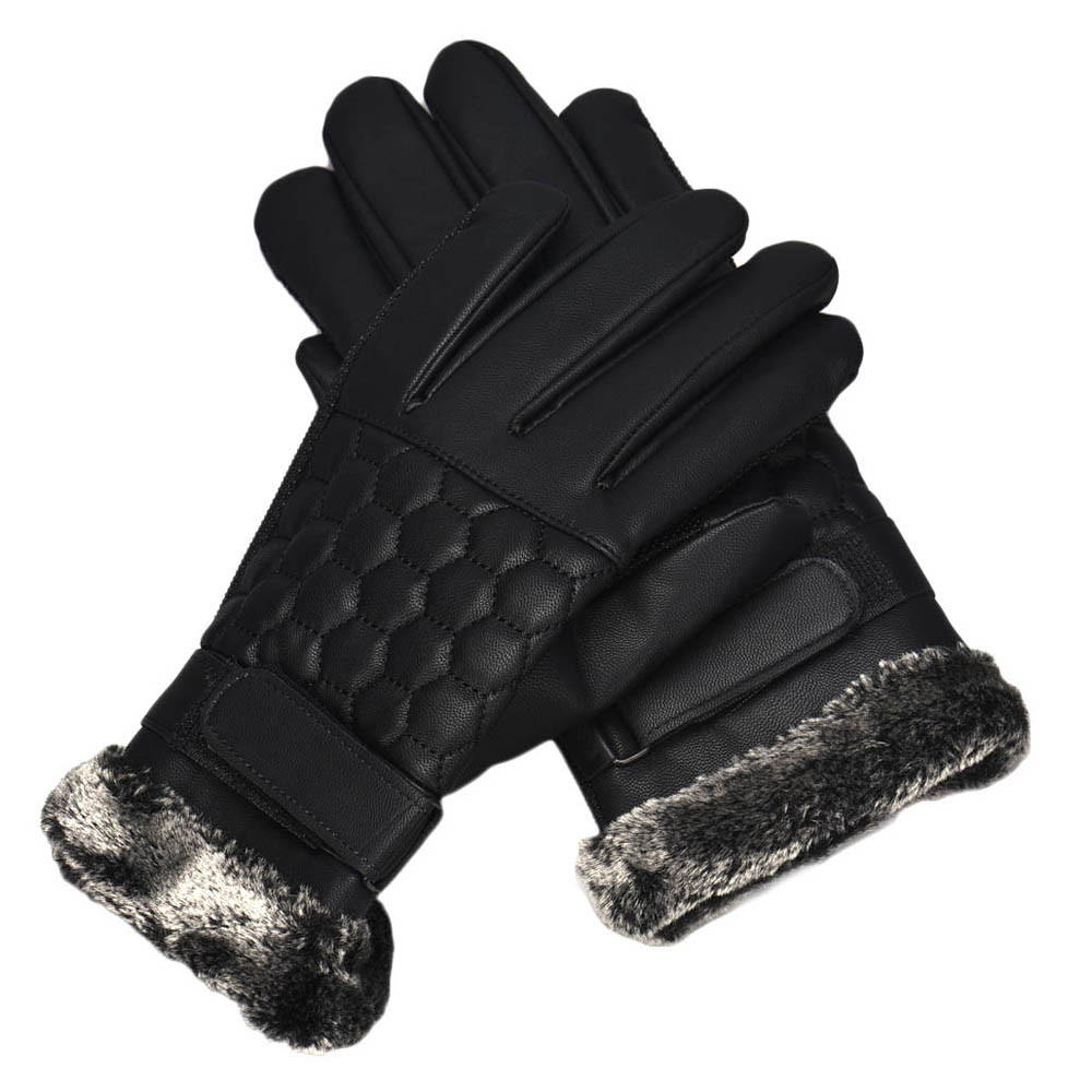 Hard-Working Womail Anti Slip Men Thermal Winter Sports Leather Touch Screen Stylish And Comfortable Gloves M301224 Beautiful And Charming Back To Search Resultsapparel Accessories