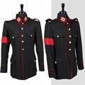 Rare Classic Moda MJ MICHAEL JACKSON Traje Negro Informal Ropa de Lana Militar Chaqueta de Invierno Outwear