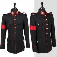 Rare Classic Fashion MJ MICHAEL JACKSON Costume Black Informal Military Woolen Clothing Winter Jacket Outwear