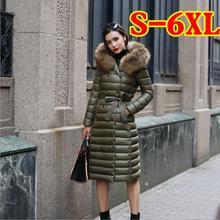 M-6XL Plus Size 90% de pato para baixo parkas inverno 2017 novas mulheres para baixo longo Nagymaros collar com capuz atacado fábrica w1323