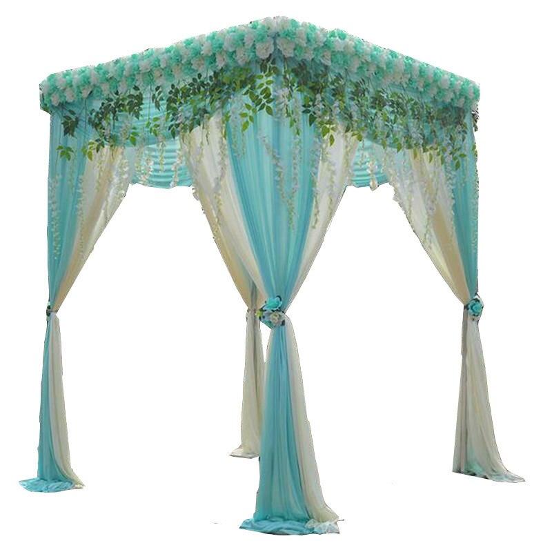 Partie/pavillon de mariage quatre coin toile de fond Stand/rideau Photo Stand cadre fleur Stand draperie tuyau mariage fil GBQ002
