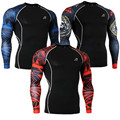 Men's T-shirts Long Sleeves Skinny Compression Shirts for Fitness & Exercise Base Layer Tights 3D Print Bodybuilding Tops Shirt