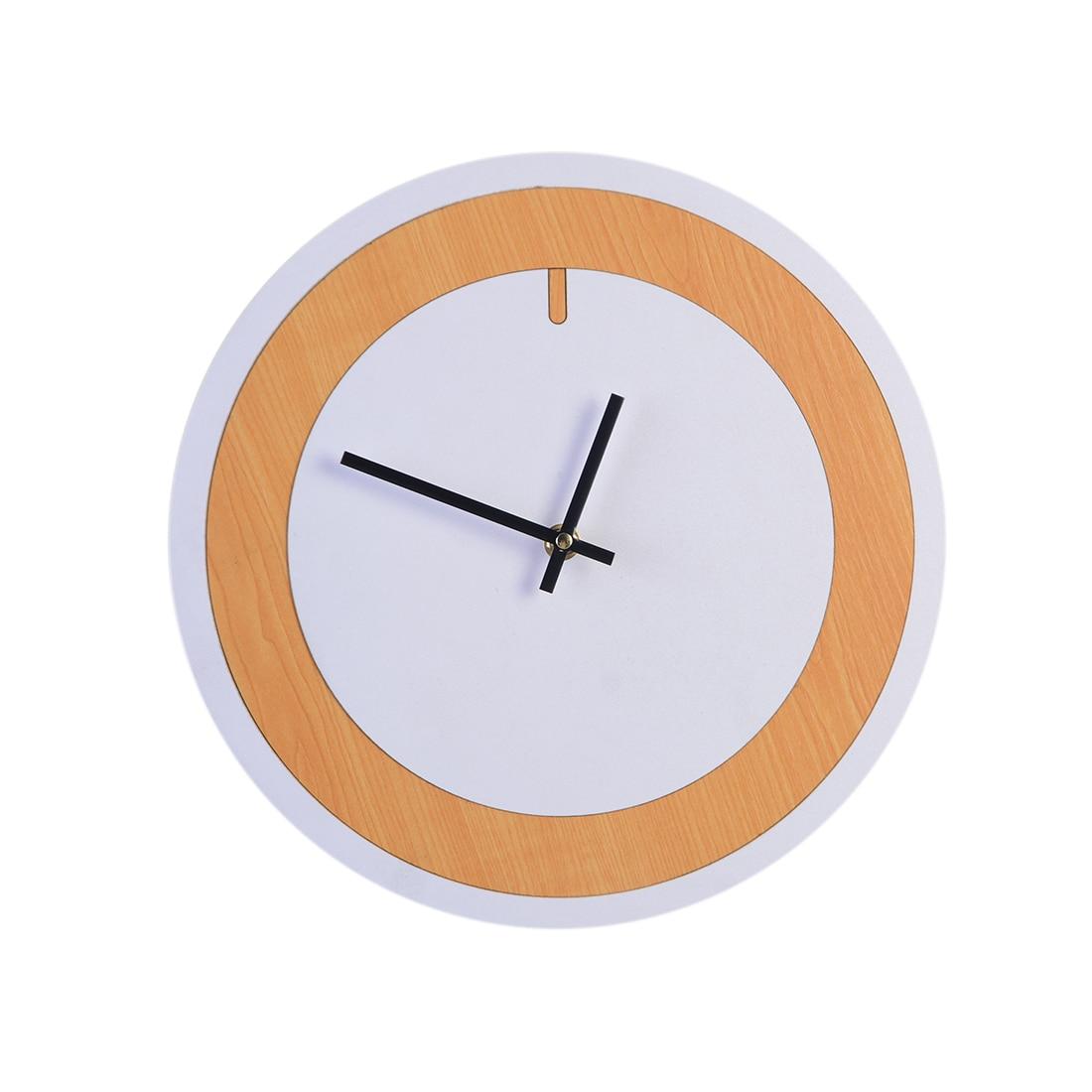 30Cm Two-Color Simple Silent Wall Clocks Home Decor Hanging Clock Quartz Watch Wall Clock Modern Design Hot Sale