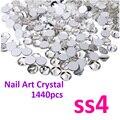 Супер блестящий 1440 шт. SS4 ( 1.5 - 1.6 мм ) ясно блеск , не исправление кристалл цвет 3D ногтей украшения Flatback стразы