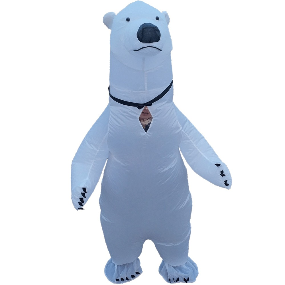 Inflatable Polar Bear Costume For Adults Halloween Carnival Cosplay Party Fancy Dress Men Women Animal Birthday Outfits