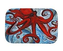 Внешняя торговля новый красный осьминог бытовые нескользящей коврик перед спальни carpet
